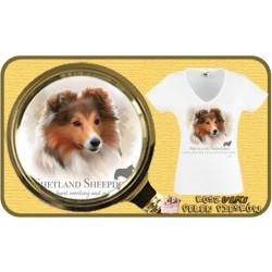 Koszulka damska z psem owczarek szetlandzki