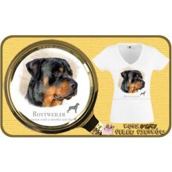 Koszulka damska z psem rotweiler