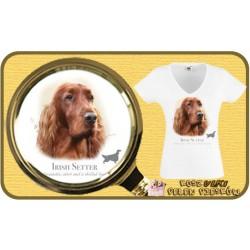 Koszulka damska z psem seter irlandzki