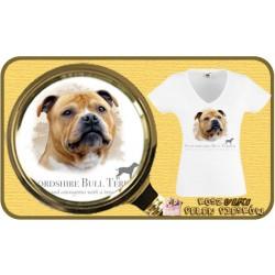 Koszulka damska z psem stafordshire bull terier