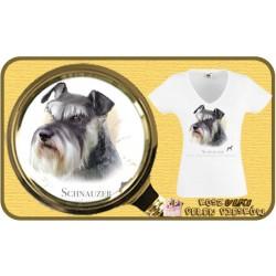 Koszulka damska z psem sznaucer