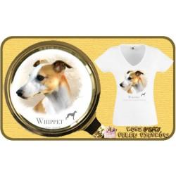 Koszulka damska z psem whippet