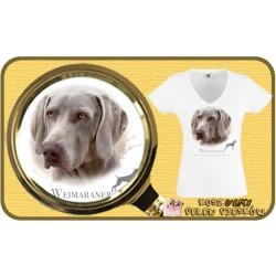 Koszulka damska z psem wyżeł weimarski