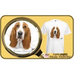 Koszulka męska z psem basset