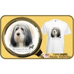 Koszulka męska z psem bearded collie