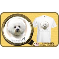 Koszulka męska z psem bichon frise