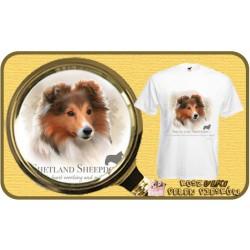 Koszulka męska z psem owczarek szetlandzki