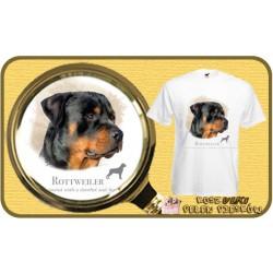 Koszulka męska z psem rotweiler