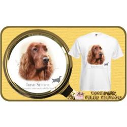 Koszulka męska z psem seter irlandzki