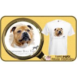 Koszulka męska z psem stafordshire bulterier