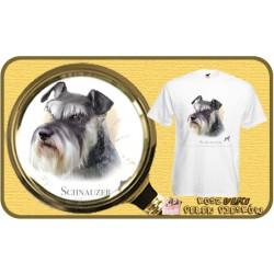 Koszulka męska z psem sznaucer