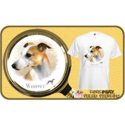 Koszulka męska z psem whippet