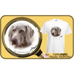 Koszulka męska z psem wyżeł weimarski