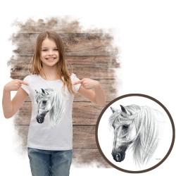 Koszulka dziewczęca z koniem Tranko Andalusian