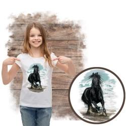 Koszulka dziewczęca z koniem ON THE BEACH