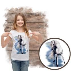 Koszulka dziewczęca z koniem Beauty and the Sea