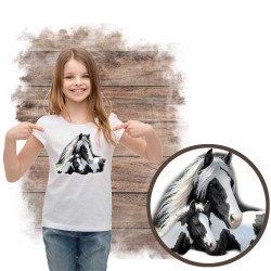 Koszulka dziewczęca z koniem Gypsies