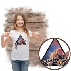 Koszulka dziewczęca z kotem...