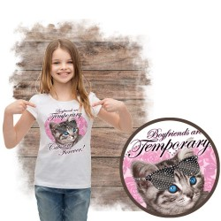 koszulka z kotem FOREVER CAT RHINESTONES