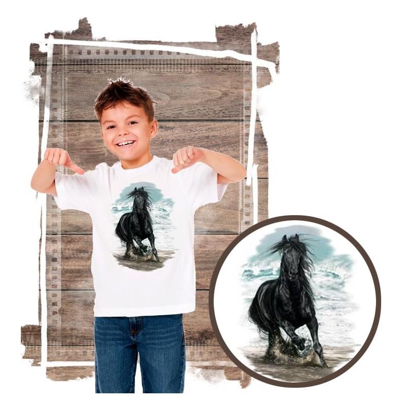 Koszulka chłopięca z koniem  ON THE BEACH