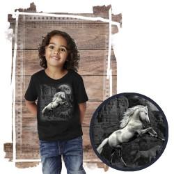 Koszulka chłopięca z koniem WHITE HORSE WILDERNESS