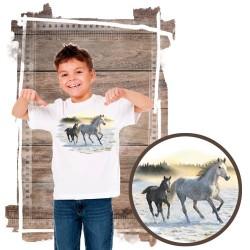 Koszulka chłopięca z koniem SUNLIT MIST