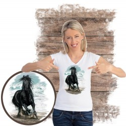 Koszulka damska z koniem ON THE BEACH