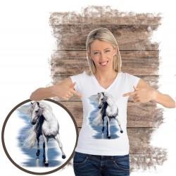 Koszulka damska z koniem BEAUTY AND THE SEA