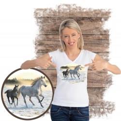 Koszulka damska z koniem SUNLIT MIST