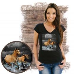 "Koszulka damska z koniem ""HORSE WILDERNESS"""