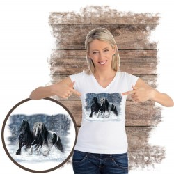 Koszulka damska z koniem WINTER WONDERLAND