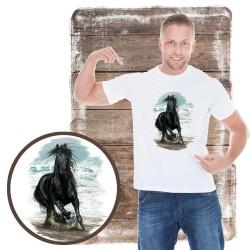 Koszulka męska z koniem ON THE BEACH
