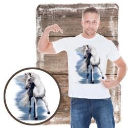 Koszulka męska z koniem BEAUTY AND THE SEA