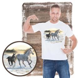 Koszulka męska z koniem SUNLIT MIST