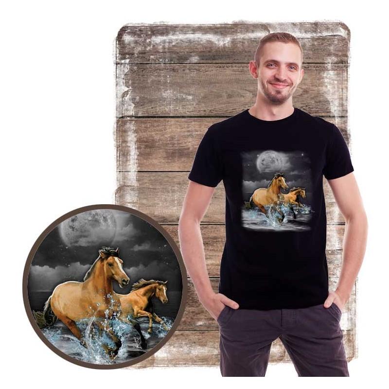 Koszulka męska z koniem HORSE WILDERNESS