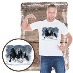 Koszulka męska z koniem WINTER WONDERLAND