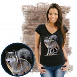 Koszulka damska z wilkiem WOLF ALERT