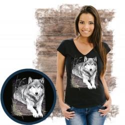Koszulka damska z wilkiem WOLF PORTRAIT