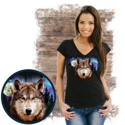 Koszulka damska z wilkiem WOLF LIGHTNING