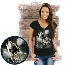 Koszulka damska z wilkiem WOLF WILDERNESS
