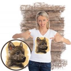 Koszulka damska z wilkiem THE LITTLE RENEGADE