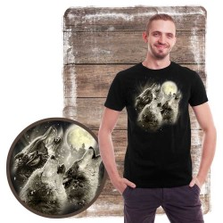 Koszulka męska z wilkiem WINTER WOLF