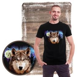 Koszulka męska z wilkiem WOLF LIGHTNING