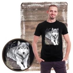Koszulka męska z wilkiem WOLF PORTRAIT