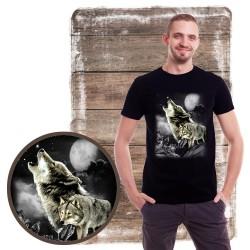 Koszulka męska z wilkiem WOLF WILDERNESS