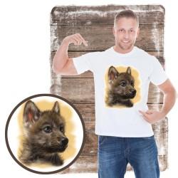 Koszulka męska z wilkiem THE LITTLE RENEGADE