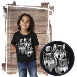 Koszulka dziecięca z wilkiem THREE WOLVES PORTRAIT