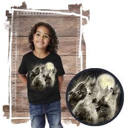 Koszulka dziecięca z wilkiem WOLF HOWL