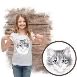 koszulka  z kotem lavender cat