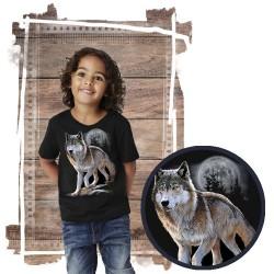 Koszulka dziecięca z wilkiem WOLF ALERT
